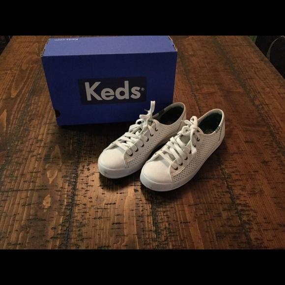 Womens Keds White Kickstart Sneakers 6